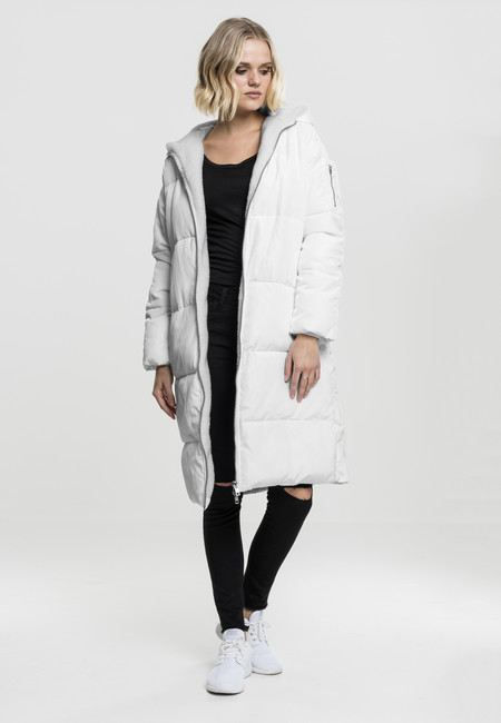 Urban classics Ladies Oversized Hooded Puffer Coat white offwhite ... 89a9e8aa7ba