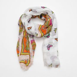 Codello Šatka Paisley And Butterflies Scarf 2