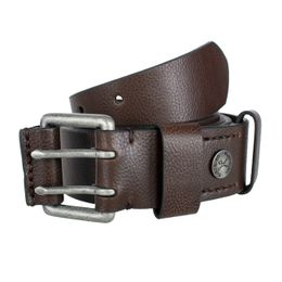 Ecko Unltd Opasok Button Belt Brown