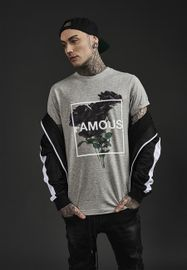 Famous Stars & Straps Life and Death Tee heather grey
