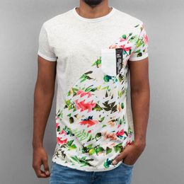 Just Rhyse Floral T-Shirt Light Grey Speckled