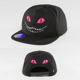 Just Rhyse Grinning Cat Snapback Cap Pink