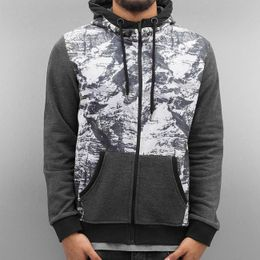 Just Rhyse Mountains Zip Hoody Grey/White