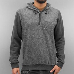 Just Rhyse Sit Down Hoody Black Chambray