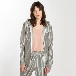 Just Rhyse / Zip Hoodie Chicosa in silver colored