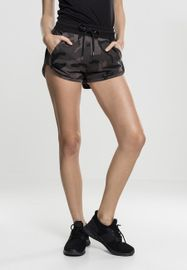 Urban classics Ladies Camo Hotpants dark camo/blk