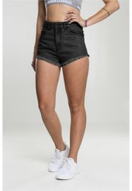 Urban classics Ladies Denim Hotpants black washed