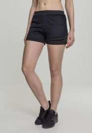Urban classics Ladies Double Layer Mesh Shorts black