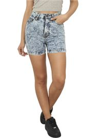 Urban classics Ladies High Waist Denim Skinny Shorts blue denim