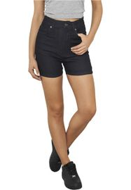 Urban classics Ladies High Waist Denim Skinny Shorts dark blue denim