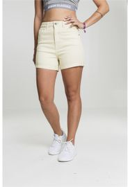 Urban classics Ladies Highwaist Stretch Twill Shorts powderyellow