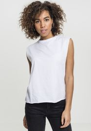 Urban classics Ladies Jersey Lace Up Top white