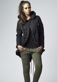 Urban classics Ladies Sherpa Lined Cotton Parka black