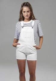 Urban classics Ladies Short Dungaree white