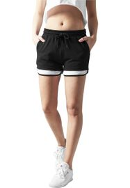 Urban classics Ladies Terry Mesh Hotpants blk/wht