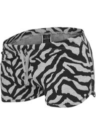 Urban classics Ladies Zebra Hotpants gry/blk