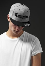 Mister Tee Compton Snapback h.grey/blk