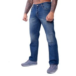 Thug Life Rifle Denim Jeans Dirty Blue