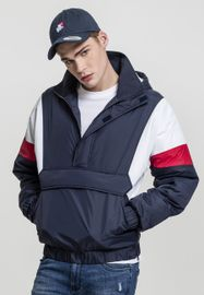 Urban Classics 3-Tone Pull Over Jacket navy/white/fire red