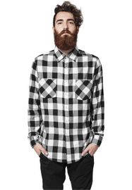 Urban Classics Checked Flanell Shirt blk/wht