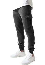 Urban Classics Fitted Cargo Sweatpants charcoal