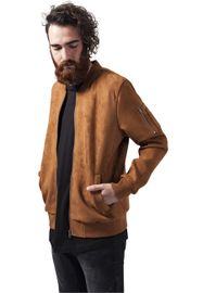 Urban Classics Imitation Suede Bomber Jacket toffee