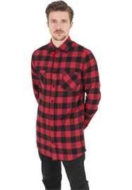 Urban Classics Long Checked Flanell Shirt blk/red
