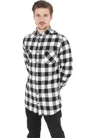 Urban Classics Long Checked Flanell Shirt blk/wht
