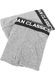 Urban Classics Men Boxer Shorts Double Pack gry/gry