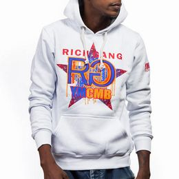 YMCMB Mikina Sweat Hoody Rich Gang White