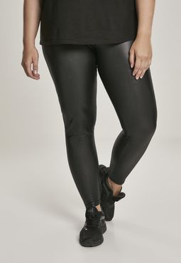Urban Classics Ladies Faux Leather High Waist Leggings black