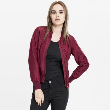Dámska bomber bunda // Urban classics Ladies Light Bomber Jacket burgundy