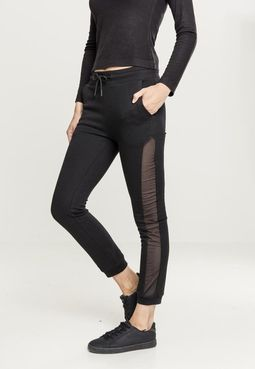 Dámske tepláky // Urban Classics Ladies Tech Mesh Side Stripe Sweatpants black