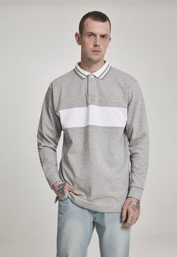 Urban Classics Rugby Panel Shirt grey/white