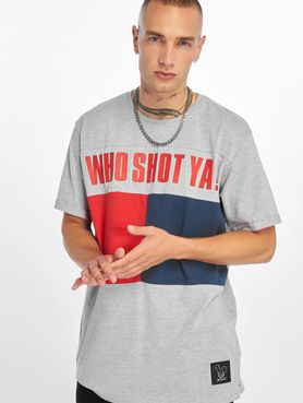 Who Shot Ya? / T-Shirt Block in grey